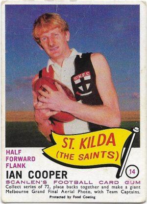 1966 VFL Scanlens (14) Ian Cooper St Kilda