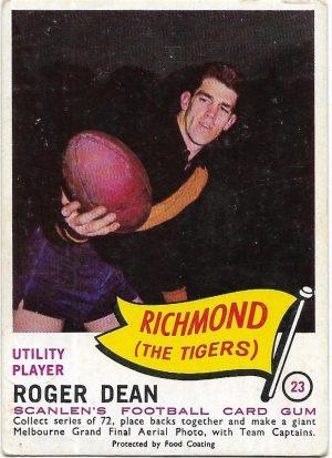1966 VFL Scanlens (23) Roger Dean Richmond