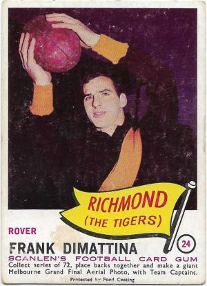 1966 VFL Scanlens (24) Frank Dimattina Richmond