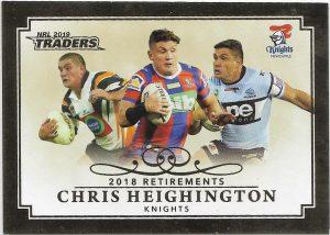 2019 Traders Club Retirements (R 5) Chris Heighington Knights