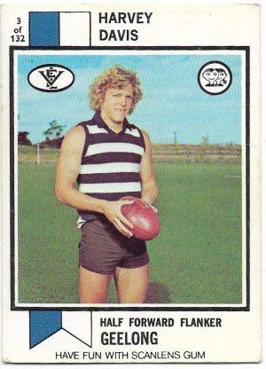 1974 VFL Scanlens (3) Harvey Davis Geelong
