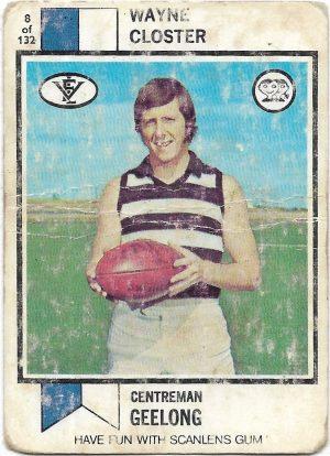 1974 VFL Scanlens (8) Wayne Closter Geelong