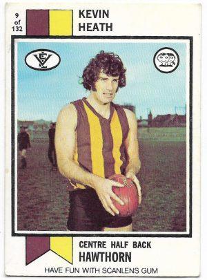 1974 VFL Scanlens (9) Kevin Heath Hawthorn