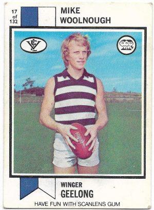1974 VFL Scanlens (17) Mike Woolnough Geelong