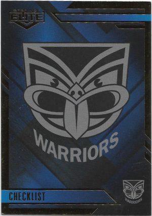 2020 Nrl Elite Mojo Sapphire (MS127) CHECKLIST Warriors 04/20