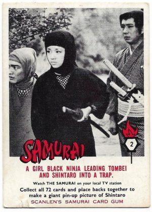 1964 Scanlens Samurai (2) A Girl Black Ninja Leading Tombei And Shintaro Into A Trap
