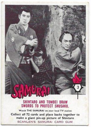 1964 Scanlens Samurai (3) Shintaro And Tombei Draw Swords To Protect Shusaku