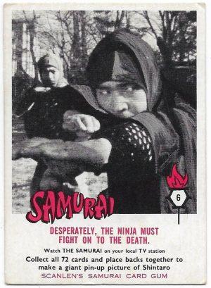 1964 Scanlens Samurai (6) Desperately, The Ninja Must Fight On To The Death