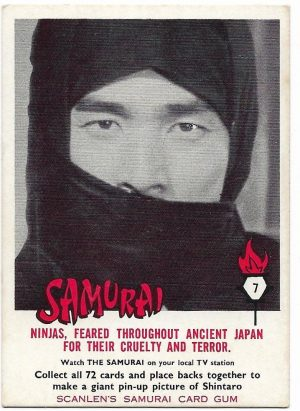 1964 Scanlens Samurai (7) Ninjas, Feared Throughout Ancient Japan For Their Cruelty And Terror