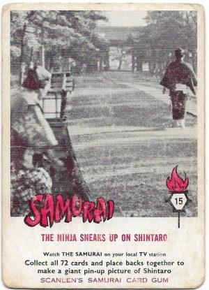 1964 Scanlens Samurai (15) The Ninja Sneaks Up On Shintaro