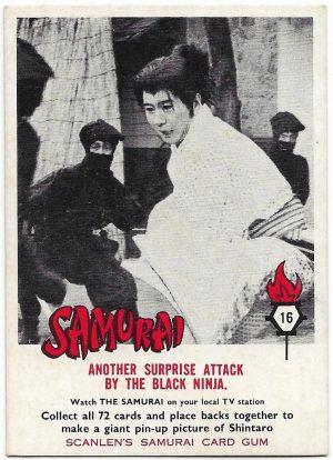 1964 Scanlens Samurai (16) Anthony Surprise Attack By The Black Ninja
