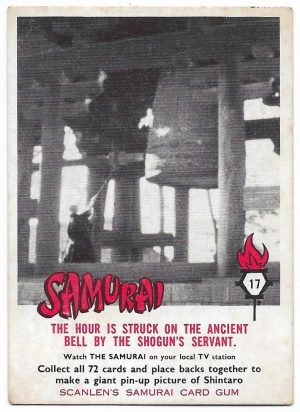 1964 Scanlens Samurai (17) The Hour Is Struck On The Ancient Bell By The Shogun's Servant