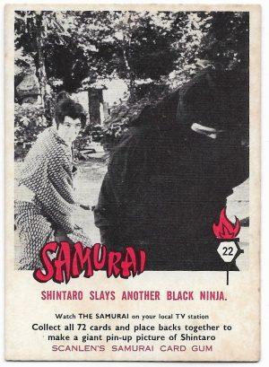 1964 Scanlens Samurai (22) Shintaro Slays Another Black Ninja