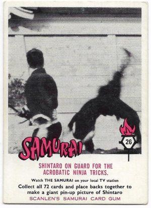 1964 Scanlens Samurai (26) Shintaro On Guard For The Acrobatic Ninja Tricks