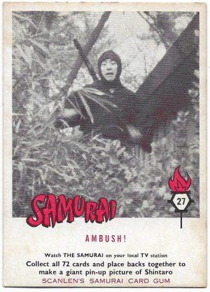 1964 Scanlens Samurai (27) Ambush