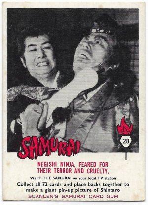1964 Scanlens Samurai (28) Negishi Ninja, Feared For Their Terror And Cruelty
