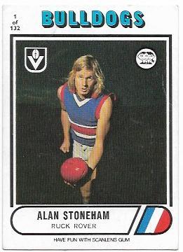 1976 VFL Scanlens (1) Alan STONEHAM Footscray
