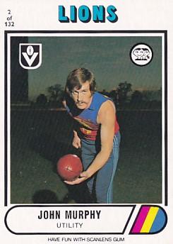 1976 VFL Scanlens (2) John MURPHY Fitzroy
