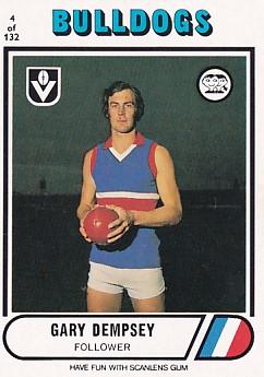 1976 VFL Scanlens (4) Gary DEMPSEY Footscray