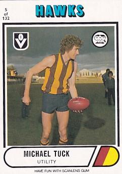 1976 VFL Scanlens (5) Michael TUCK Hawthorn