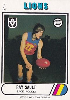 1976 VFL Scanlens (7) Ray SAULT Fitzroy