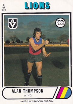 1976 VFL Scanlens (8) Alan THOMPSON Fitzroy