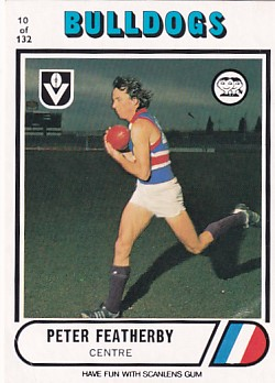 1976 VFL Scanlens (10) Peter FEATHERBY Footscray