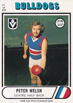 1976 VFL Scanlens (11) Peter WELSH Footscray