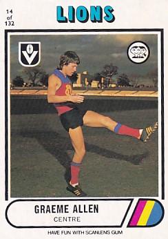 1976 VFL Scanlens (14) Graeme ALLEN Fitzroy