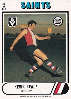 1976 VFL Scanlens (21) Kevin NEALE St Kilda