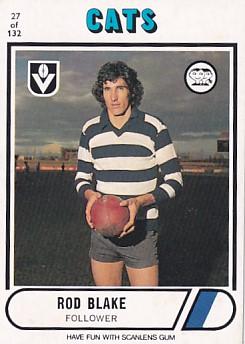 1976 VFL Scanlens (27)Rod BLAKE Geelong