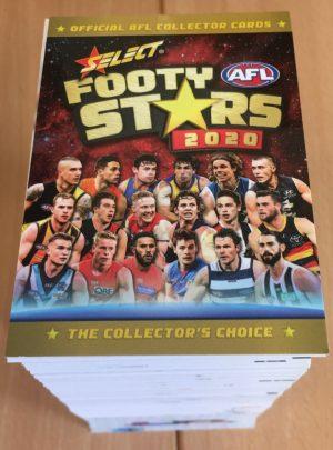 2020 Select Footy Stars FULL BASE SET Inc AFLW (223 Cards)