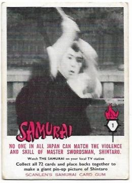 1964 Scanlens Samurai (1) No One In All Japan Can Match The Violence And Skill Of Master Swordsman, Shintaro