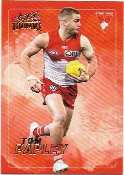 2020 Select Dominance Base Card (190) Tom PAPLEY Sydney