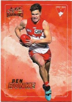 2020 Select Dominance Base Card (192) Ben RONKE Sydney