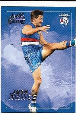 2020 Select Dominance Base Card (208) Josh BRUCE Western Bulldogs