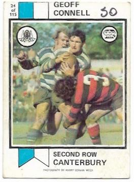 1974 Scanlens Rugby League (24) Geoff Connell Canterbury