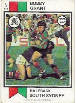 1974 Scanlens Rugby League (37) Bobby Grant South Sydney