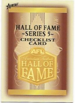 2018 Select Hall Of Fame (218) Check List