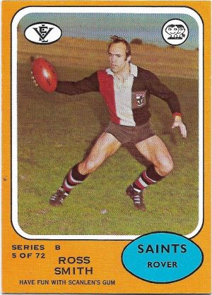 1973 B VFL Scanlens (5) Ross Smith St. Kilda