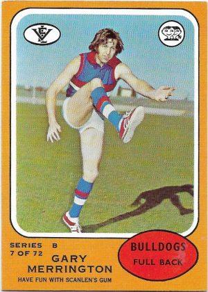 1973 B VFL Scanlens (7) Gary Mellington Footscray