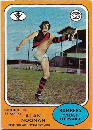 1973 B VFL Scanlens (11) Alan Noonan Essendon