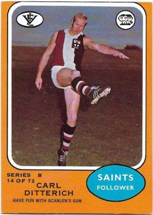 1973 B VFL Scanlens (14) Carl Ditterich St. Kilda