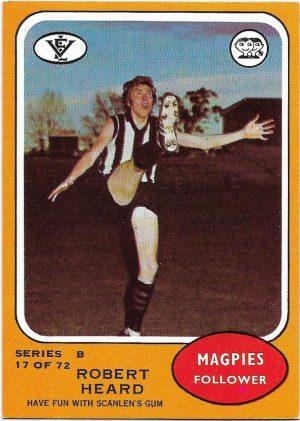 1973 B VFL Scanlens (17) Robert Heard Collingwood