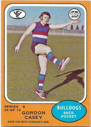 1973 B VFL Scanlens (20) Gordon Casey Footscray