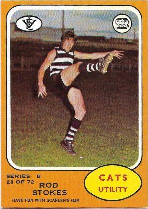 1973 B VFL Scanlens (28) Rod Stokes Geelong