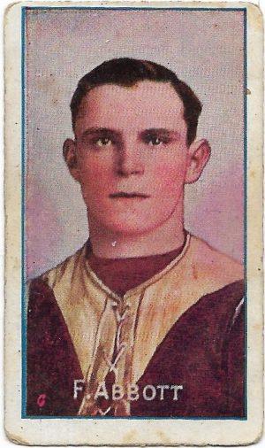 1908 Series D Sniders & Abrahams – Fitzroy F. P. (Ranji) Abbott