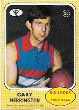 1972 VFL Scanlens (25) Gary Merrington Footscray