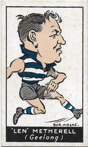 1933 Carreras (36) Len Metherell Geelong