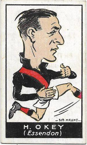 1933 Carreras (39) Howard Okey Essendon